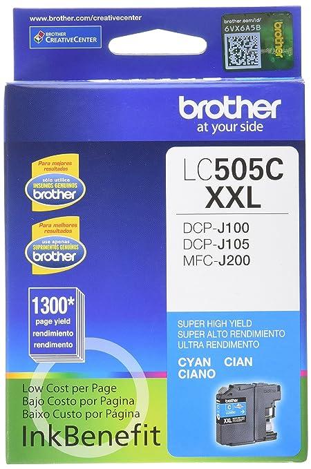 Brother LC-505C cartucho de tinta Original Cian 1 pieza(s ...