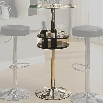 Coaster Home Furnishings 120715 Contemporary Bar Table, Black
