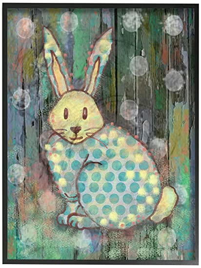 The Kids Room by Stupell Distressed Woodland Rabbit Wall Plaque 11 x 14