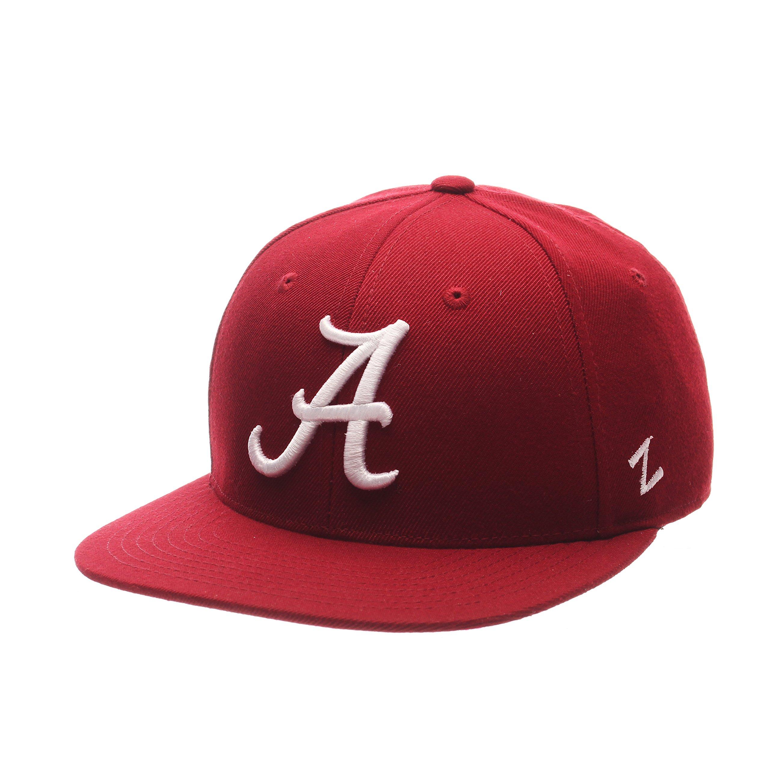 Zephyr NCAA Alabama Crimson Tide Men's M15 Fitted Hat, Cardinal, Size 7