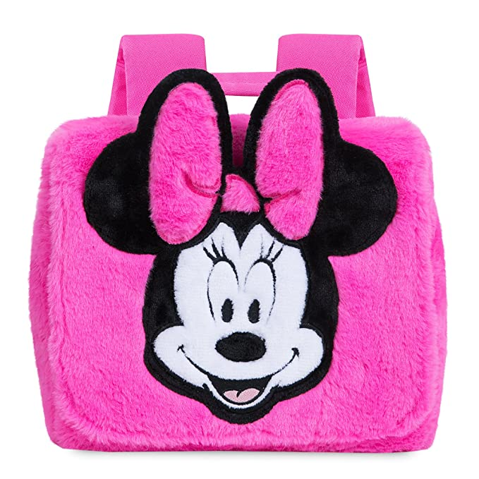 0721acc0afb Image Unavailable. Image not available for. Color  Disney Minnie Mouse  Fuzzy Pink Backpack ...