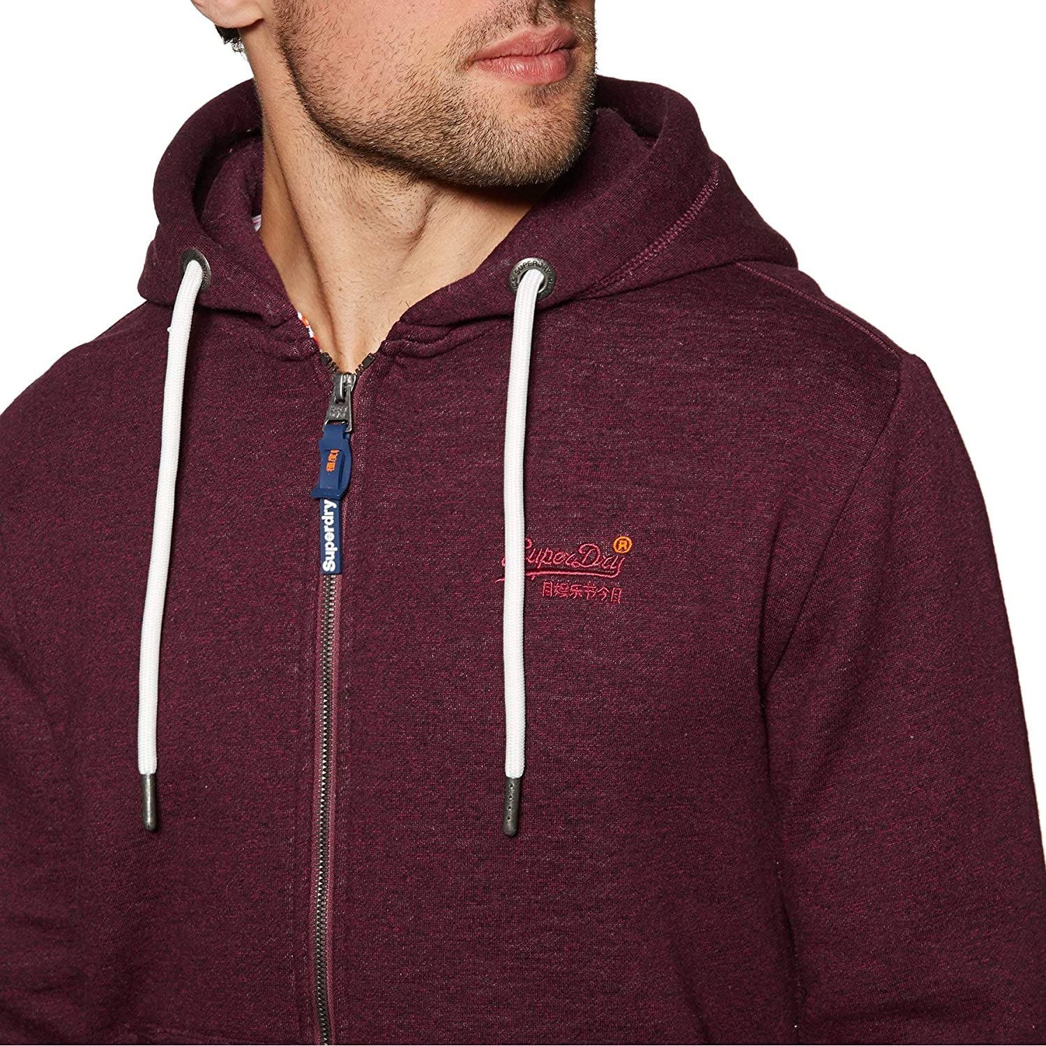 Superdry Orange Label Classic Mens Hoody Zip Rich Teal Grit All Sizes