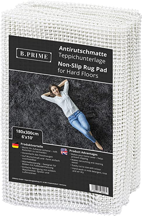B.PRIME Non-Slip Rug Underlay - The Easiest to Maintain Underlay