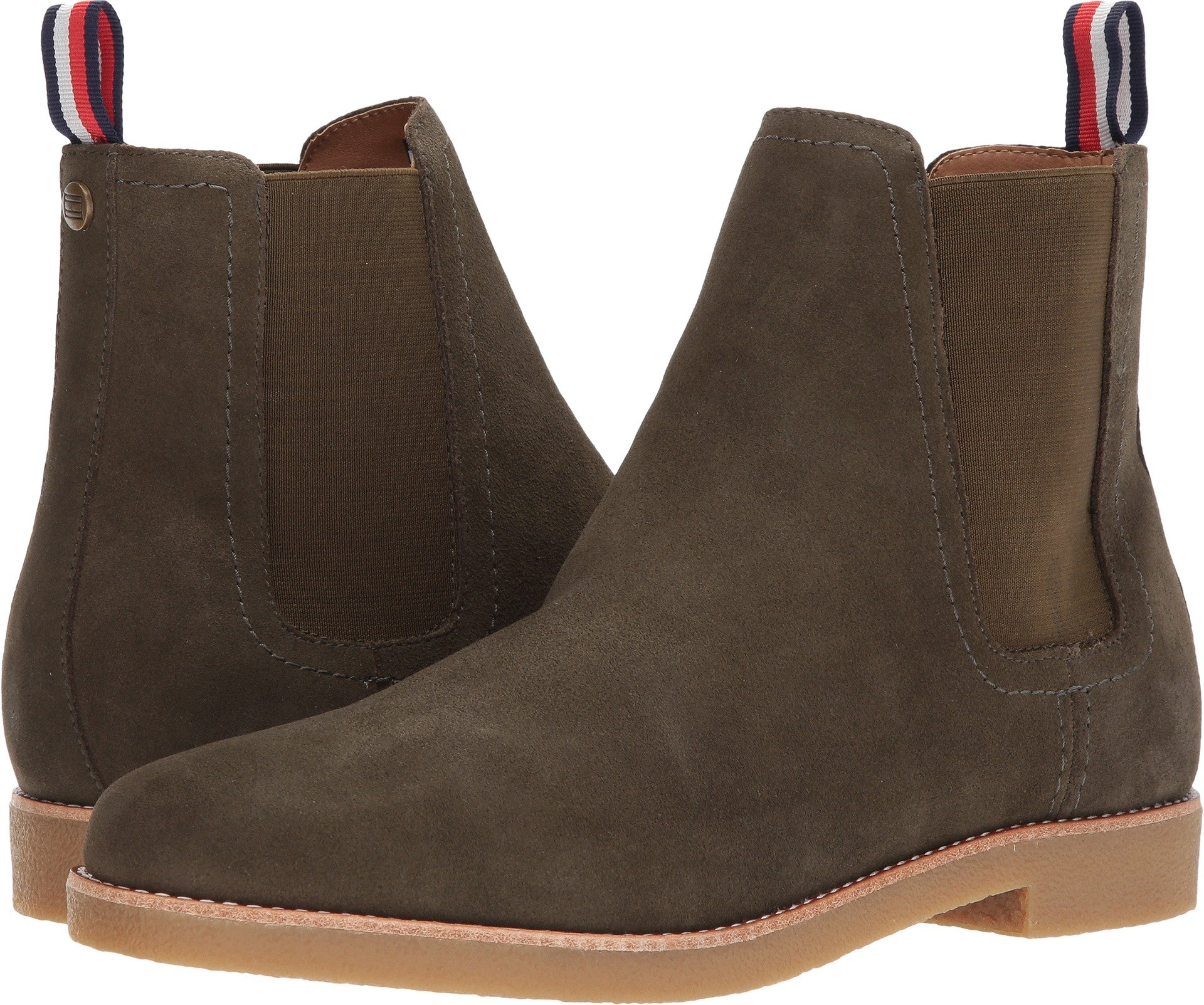 Tommy Hilfiger Men's Crane Chelsea Boot, Green, 9 Medium US
