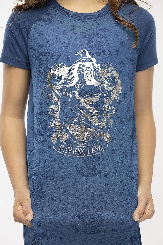 Lámina de Niñas de Harry Potter Hogwarts Impresión Casas S/S Raglan camisón