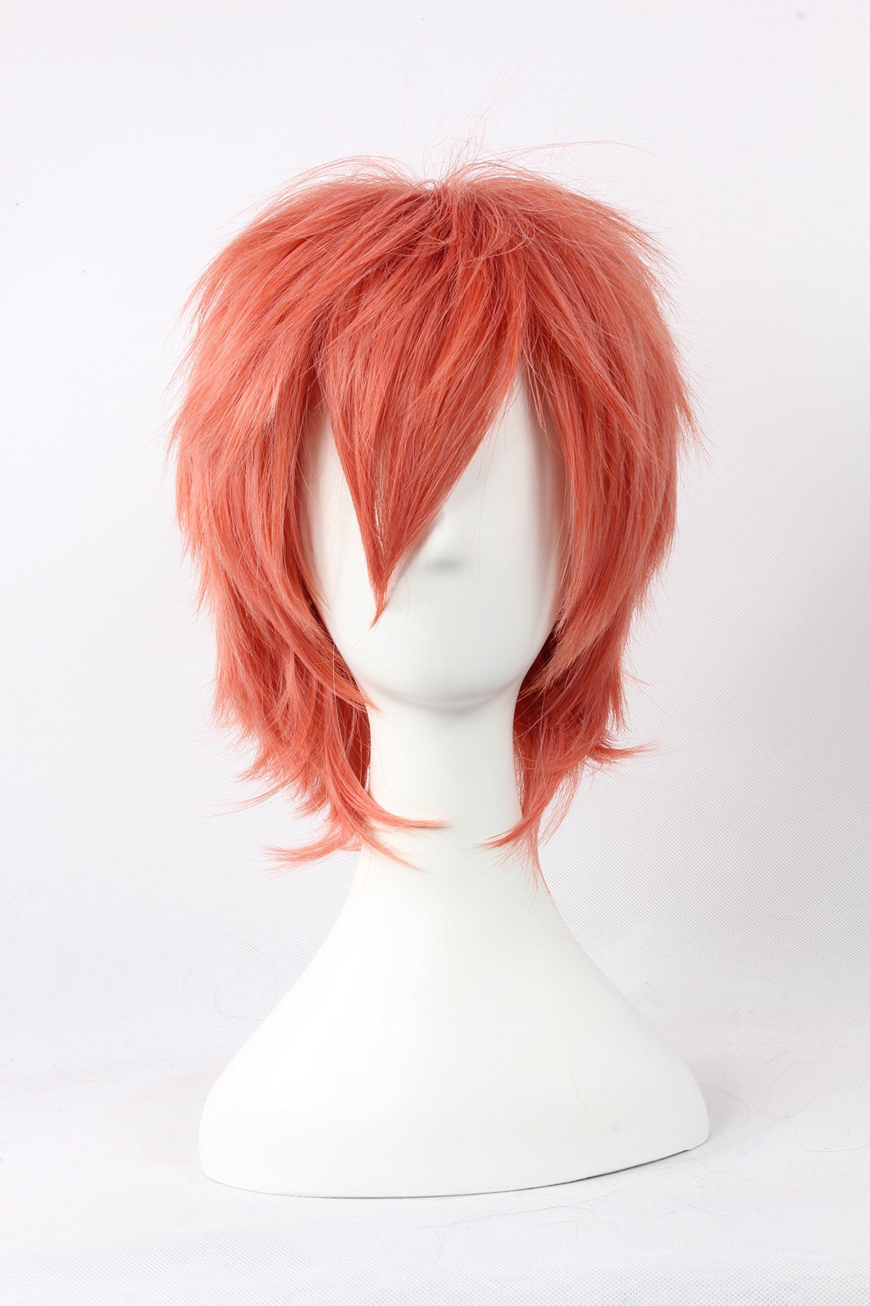Coolsky Wigs Ao no Exorcist,Hostclub STAFF Mix Pink Short Straight Hair Cosplay Wig