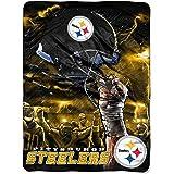 "NFL Pittsburgh Steelers Sky Helmet Plush Raschel Throw, 60"" x 80"""