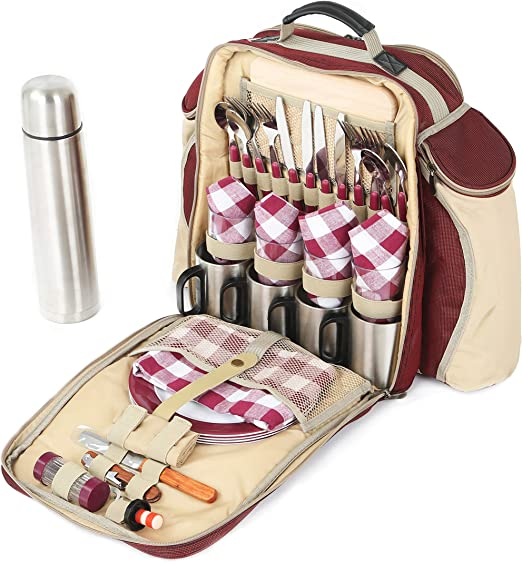 Greenfield Collection Super Deluxe - Mochila de picnic para cuatro ...