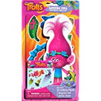 Trolls Poppy Wooden Magnetic Doll with Dress-up Clothing Pieces and Sticker Sheet