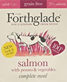 Forthglade 100% Natural Complete Meal Grain Free Adult Dog Pet Food Salmon, Potato & Vegetables 395g (Pack of 7)