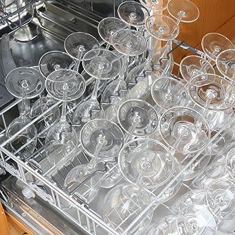 Zubehör für geschirrspüler  Sicherer Sitz für Weingläser im Geschirrspüler mit Korbeinsatz für ...