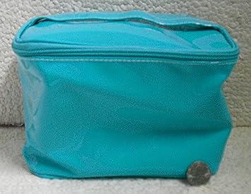 Amazon.com: Verde azulado Clinique Maquillaje bolsa con asa ...