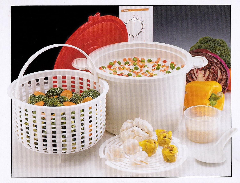 Amazon.com: 12 taza Microondas Arroz/Pasta Cooker Steamer ...