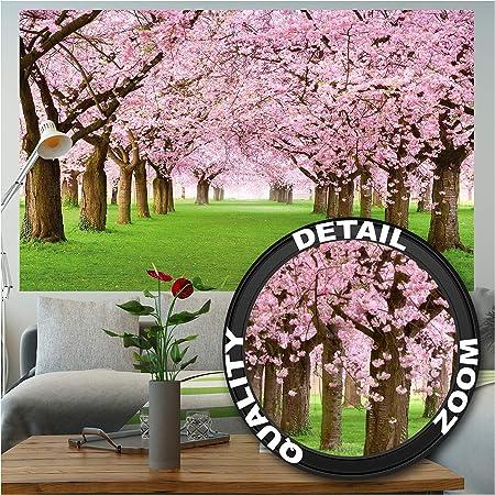 GREAT ART Mural De Pared – Mural De Flor De Cerezo –Flores Primavera Jardín Planta Bosque Parque Naturaleza para Florecer Árbol Avenida Foto Tapiz Y Decoración (210x140 Cm): Amazon.es: Hogar