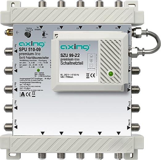 Axing Spu 510 09 Sat Multischalter 10 Teilnehmer Elektronik