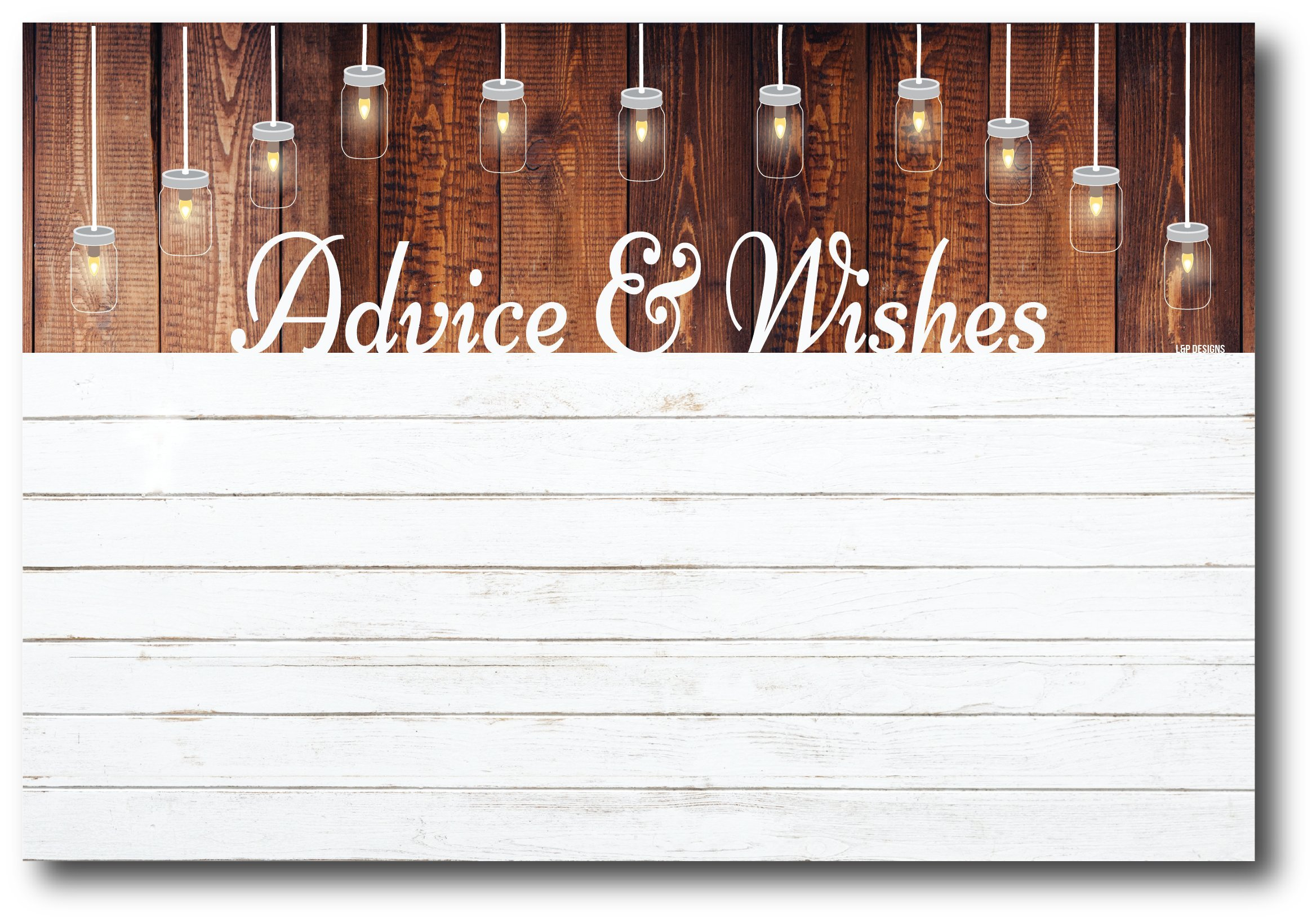 50 Rustic White Shiplap Gender Neutral Advice And Wishes Cards, Any Occasion, Two Grooms or Two Brides Advice Cards, Wedding Advice Cards, Bridal Shower, Advice For The Bride, Baby Shower Advice Cards