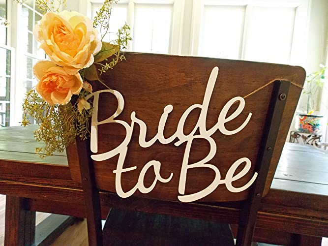 Bride to Be Chair Sign-Bridal Shower Chair Sign-Bachelorette Sign-Bachelorette Party & Amazon.com: Bride to Be Chair Sign-Bridal Shower Chair Sign ...