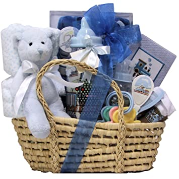 Amazon.com : Great Arrivals Baby Gift Basket, Baby Essentials Boy ...