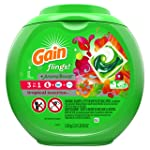 "Gain flings! plus Aroma Boost Laundry Detergent Pods, Tropical Sunrise, 57 Count""packaging may vary"