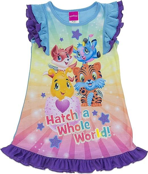 Hatchimals Girls Big Hatch a Whole World Short Sleeve Pajama Dress