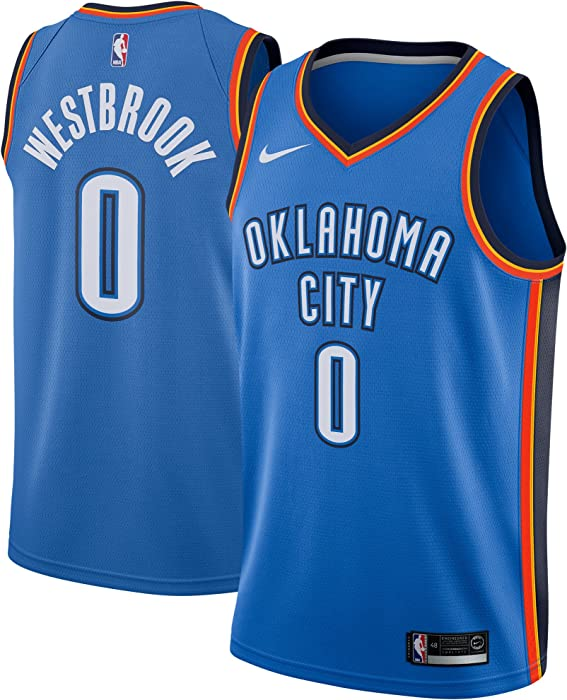 bdec6178c04 NIKE Russell Westbrook Oklahoma City Thunder Swingman Icon Edition Blue  Jersey - Men's XL (X