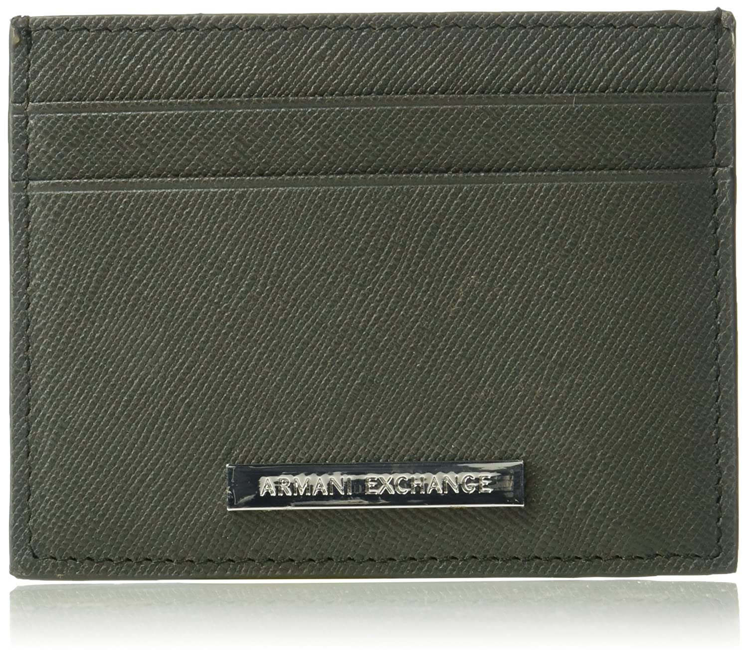 A|X Armani Exchange mens Saffiano Cardcase black One Size Armani Exchange Men' s Accessories 958030CC53400020