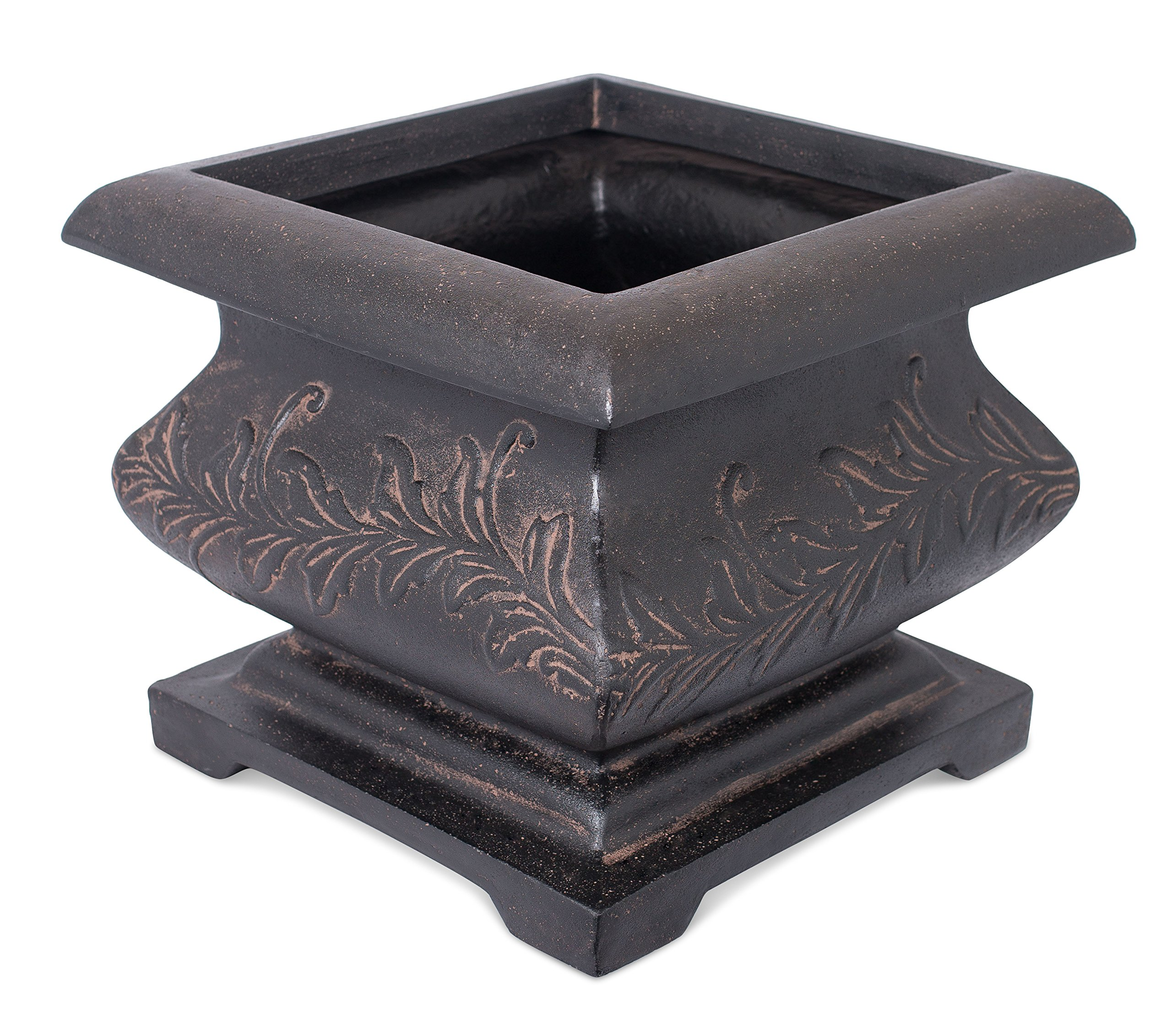 "BirdRock Garden 21"" Square Bomb Planter 