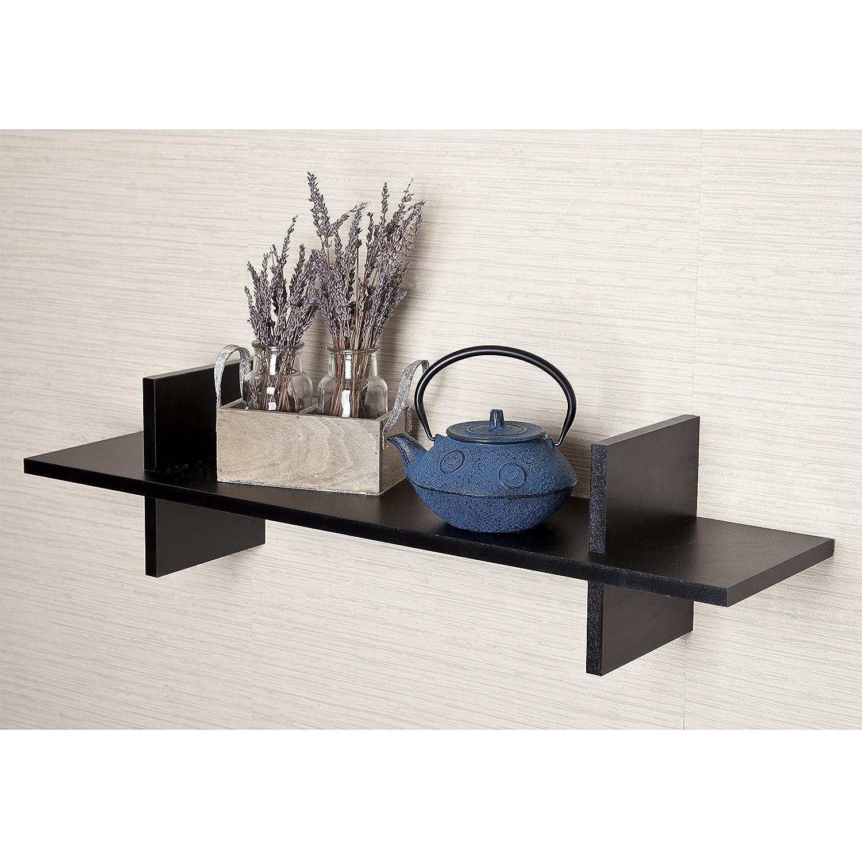 Amazon decorative espresso h shaped wall shelf home kitchen amipublicfo Images