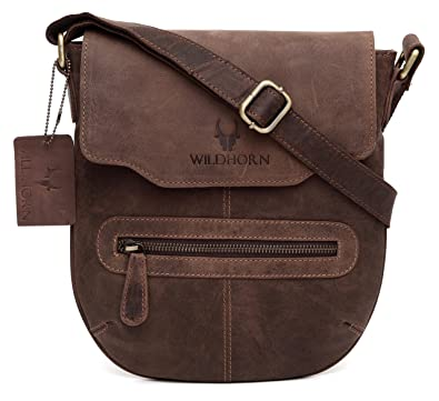 WildHorn Men s Urban Edge Vintage Leather Messenger Bag (Brown)  Amazon.in   Shoes   Handbags 02c97ad23a295