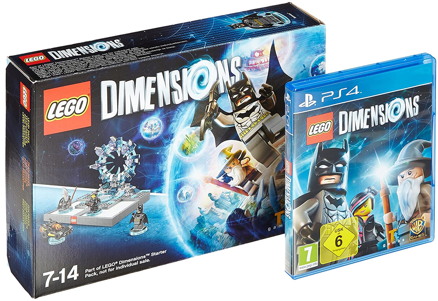 Amazon com: LEGO Dimensions Starter-Pack, PS4-Blu-ray Disc +