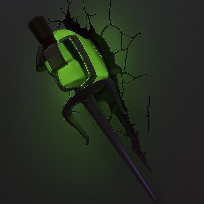 3DLIGHTFX TMNT Raphaels Sai Luz, Color Green/Beige/Silver ...