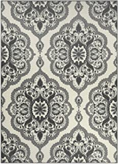product image for Maples Rugs Vivian Medallion Area Rugs for Living Room & Bedroom [Made in USA], 7 x 10, Grey