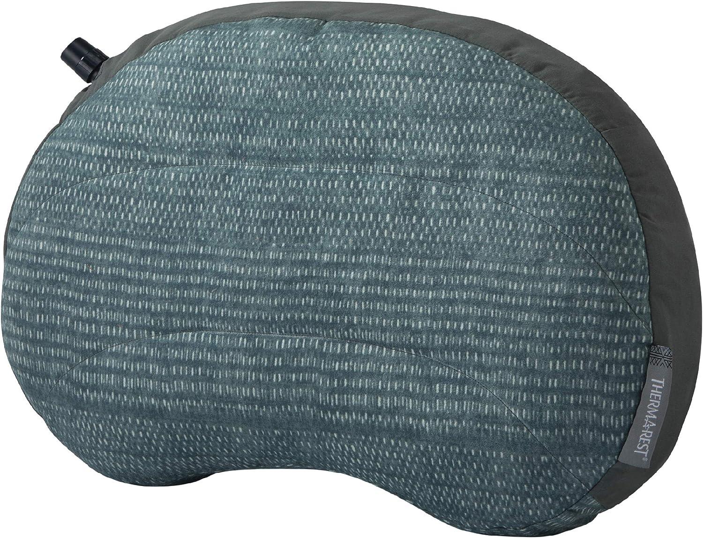 Regular Tejido Azul Therm-a-Rest Air Head Almohada Inflable de Viaje para Camping y Viajes 11 x 15,5 cm