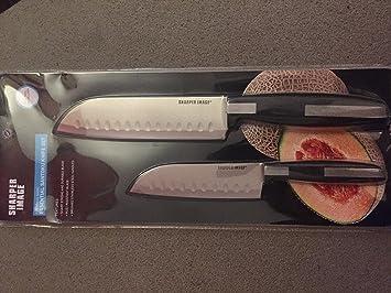 Amazoncom Sharper Image Stainless Steel Essential Santoku Knife