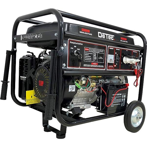 Generador de corriente, 5500 W, 13 CV, de gasolina, 230 V, con ...