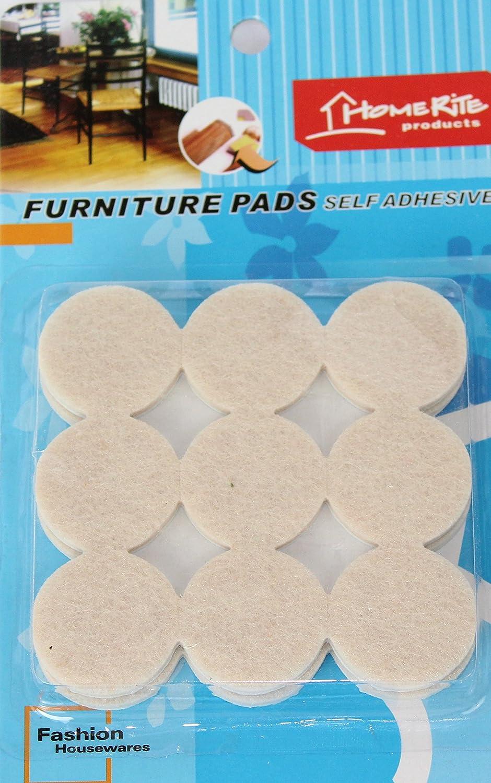 Zmum67® Furniture Self Adhesive Felt Pads Wood Floor Protectors 18 Pcs Round Response Scotland