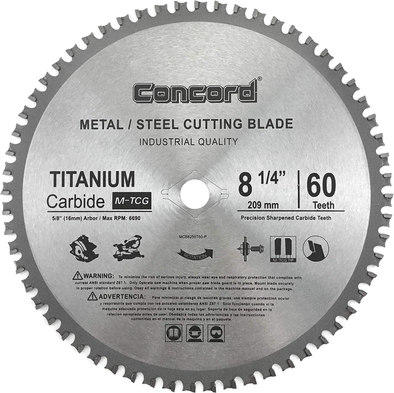 Metal Cutting Blade 12-In 60 Teeth TCT Ferrous Ultra Sharp Hard Titanium Carbide