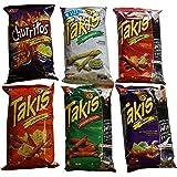Barcel Takis Tortilla Chips 9.9 oz Sampler (Feugo,Nitro,Churritos,Xplosion,Fajitas,Guacamole)