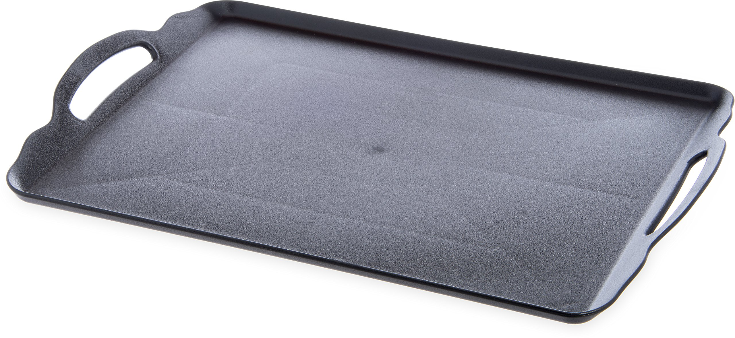 Carlisle RST152003 Room Service Serving Tray with Handles, 15'' x 20'', Black