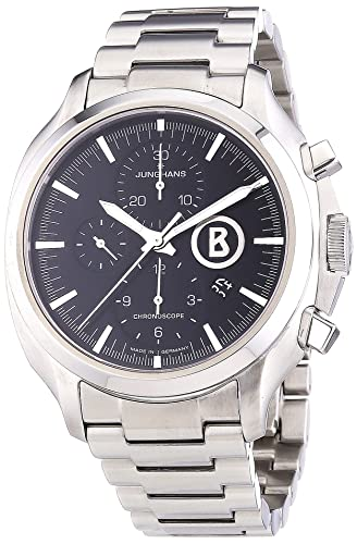 Junghans Uhren Bogner Willy Chronoscope 027/4266.44 - Reloj para hombres, correa de acero inoxidable color plateado: Amazon.es: Relojes