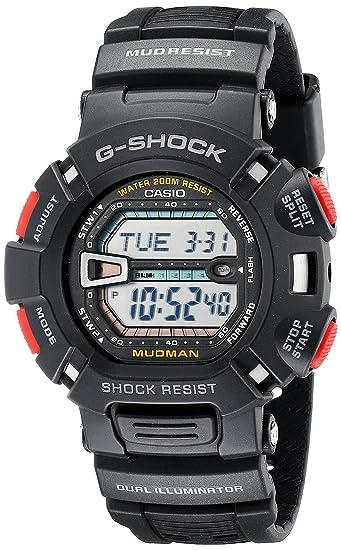 Black MudMan G-Shock Resin Strap Digital