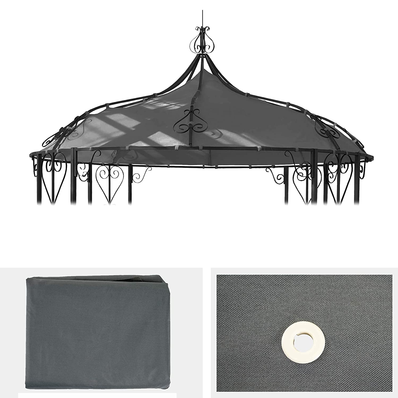Mendler Toile de Rechange pour Toit Pergola Pavillon Almeria /Ø 3m ~ Gris
