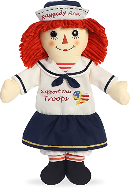 Amazon Com Aurora World Support Our Troops Raggedy Ann Doll 16 Na White Toys Games