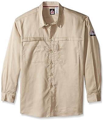 dcb9b63ab46 Bulwark Men s Iq Series Comfort Woven Concealed Pocket Shirt Big and Tall