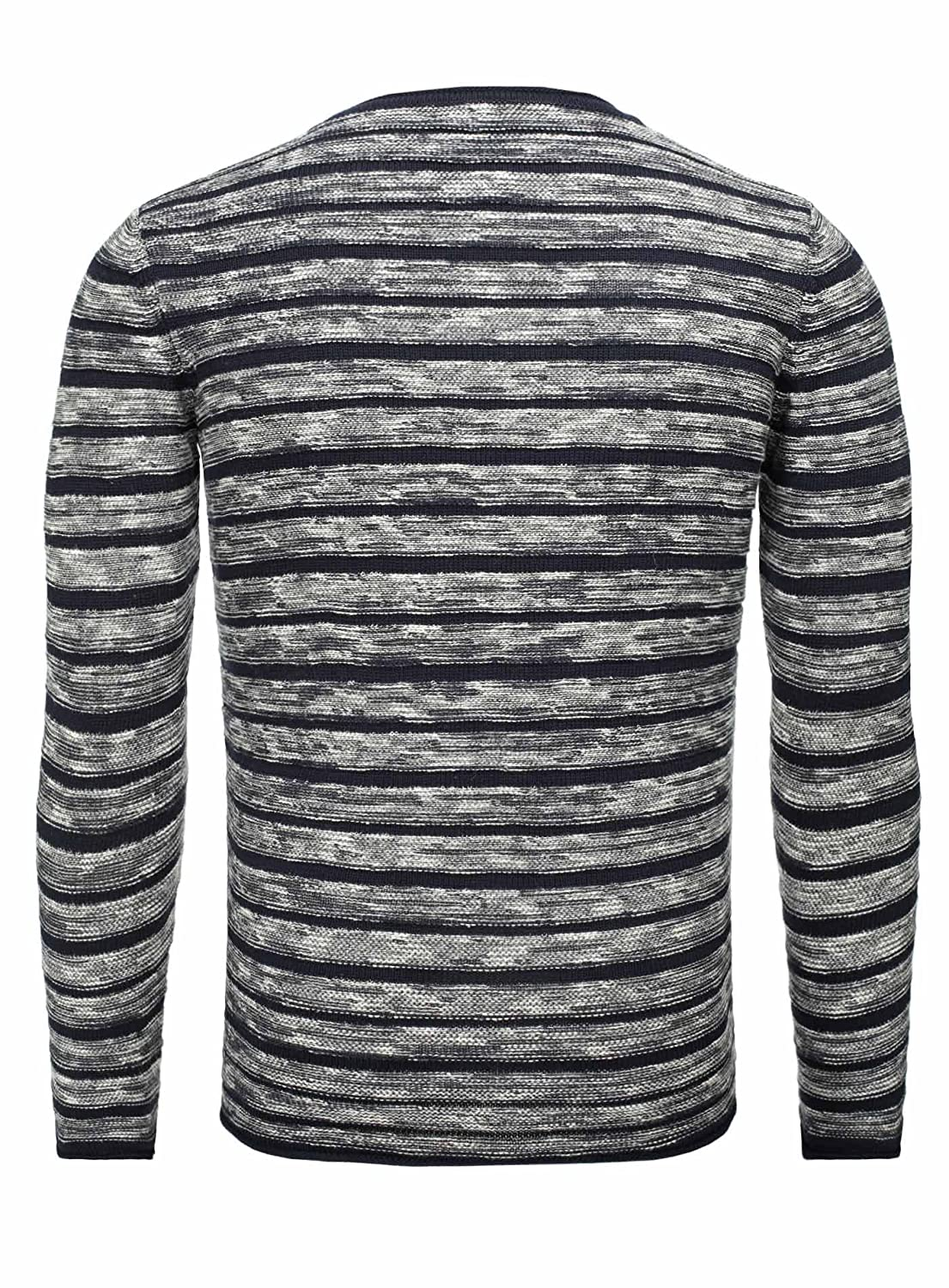 Key Largo Men Knitted Jumper ADVANCE Oversize Section Crew Neck Striped Long Sleeve