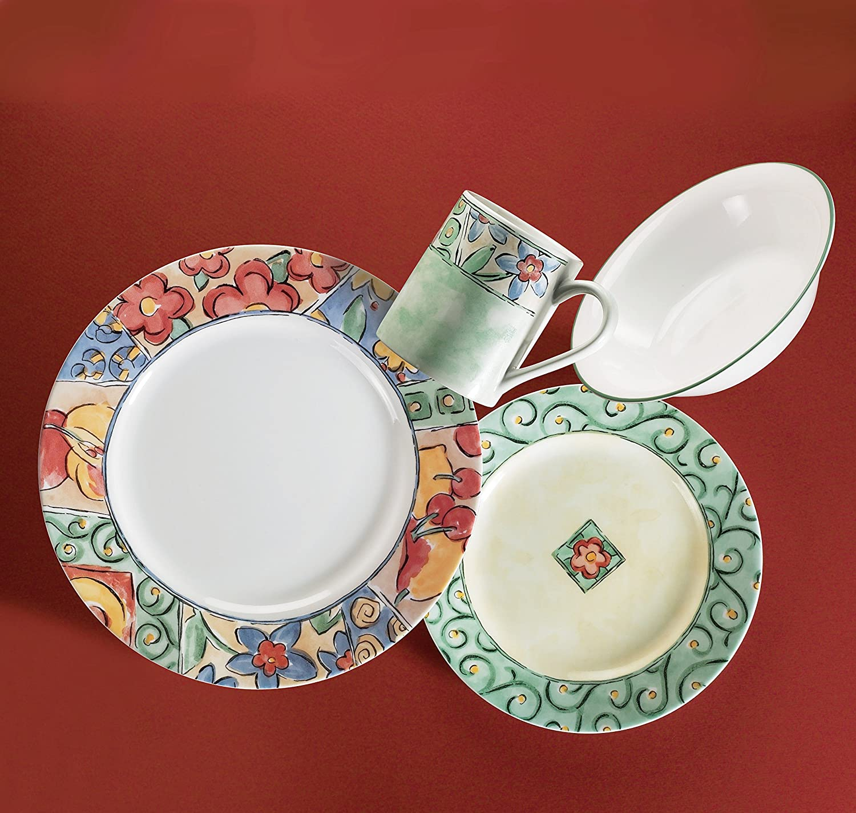 Corelle Impressions 16-Piece Dinnerware Set, Watercolors, Service ...