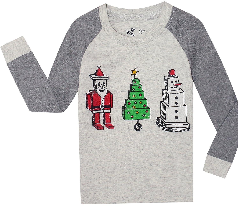 Boys Christmas Pajamas Children Santa Claus PJs Gift Toddler 2 ...