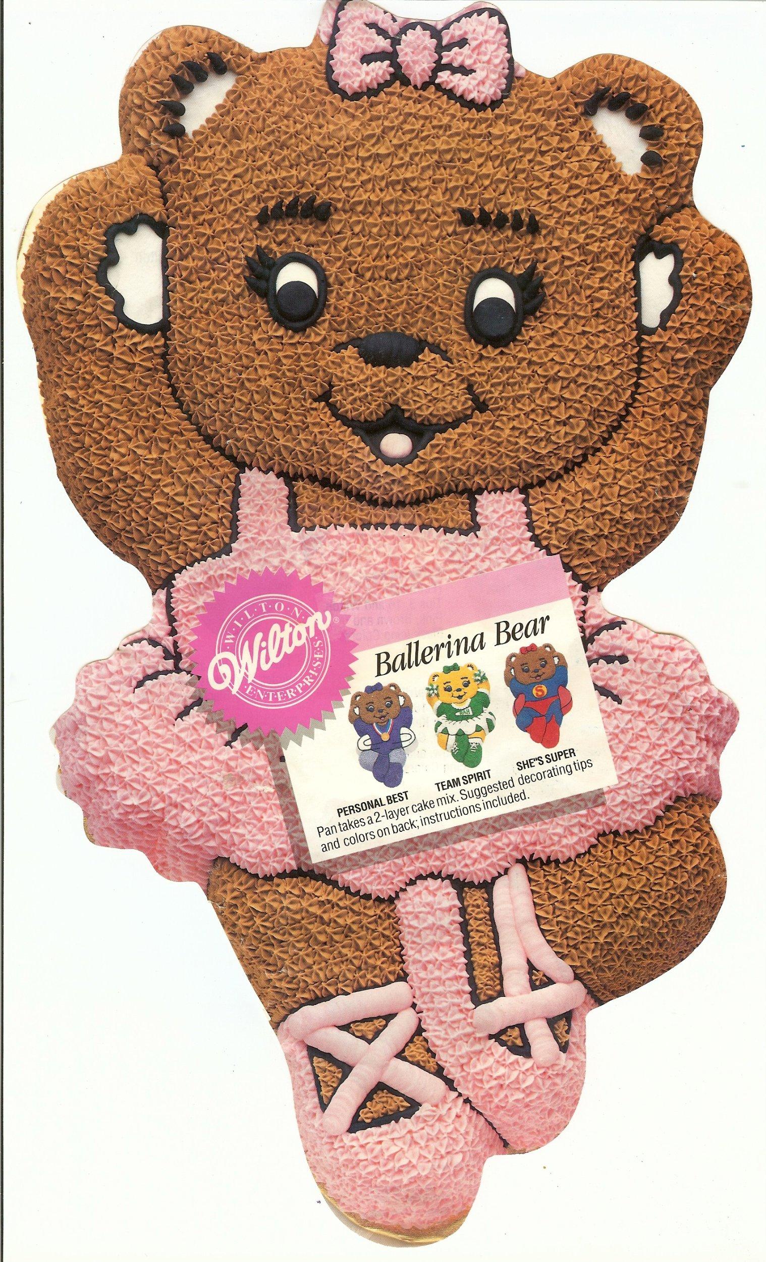 Wilton Ballerina Ballet Cheerleader Gymnastics Super Bear Cake Pan (2105-2021, 1992)