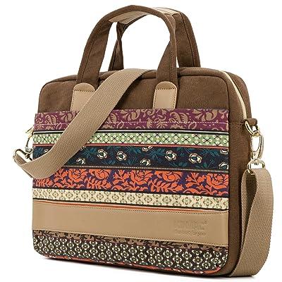 Kinmac New Design laptop shoulder messenger bag (15 inch & 15.6 inch & macbook pro 15, New Bohemian-Coffee)