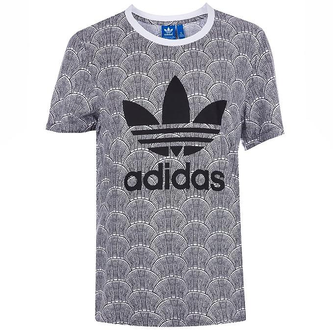 adidas Originals Camiseta - para Mujer Blanco 30: Amazon.es: Ropa y accesorios